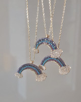 Rainbow and Cloud Necklace Sterling Silver from kellinsilver.com