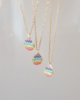 Rainbow Teardrop Necklace Sterling Silver from kellinsilver.com