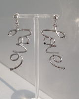 Love Script Earrings Fashion Jewelry from Kellinsilver.com
