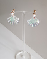 Pearl and Opalite Shell Dangle Earriings from kellinsilver.com