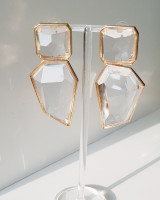 Clear Ice Drop Earrings from kellinsilver.com