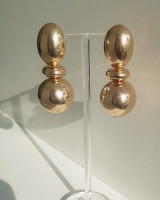 Golden Sadie Ball Earrings from kellinsilver.com