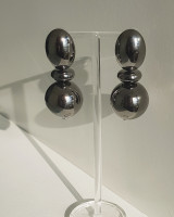 Gunmetal Sadie Ball Earrings from kellinsilver.com