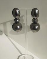 Gunmetal Sadie Ball Earrings from kellinsilver.com