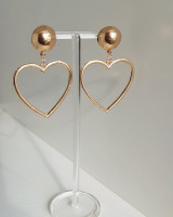 Heart Drop Earrings from kellinsilver.com