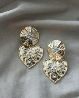 Vintage Heart Drop Earrings on kellinsilver.com