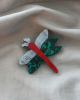 Acrylic Dragonfly Brooch on kellinsilver.com