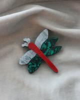 Acrylic Dragonfly Brooch on kellinsilver.com