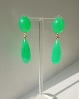Green Resin Drop Earrings on kellinsilver.com