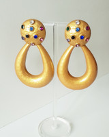 Golden Sadie Hoop Earrings on kellinsilver.com