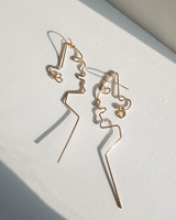 Face Line Earrings on kellinsilver.com