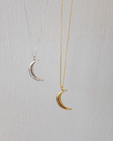 Crescent Moon Necklace Sterling Silver on kellinsilver.com