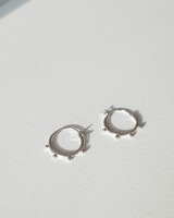 Mini Spoke Earrings in Sterling Silver on kellinsilver.com