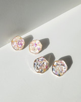 Mosaic Button Stud Earrings on kellinsilver.com