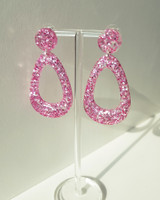 Electric Drop Earrings in Pink from kellinsilver.com