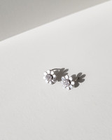 Tiny Daisy Flower Earrings in Sterling Silver on kellinsilver.com