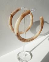 68mm Natural Hoop Earrings on kellinsilver.com