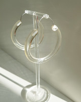 Transparent Coffee Hoop Earrings on kellinsilver.com