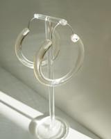 Transparent Coffee Hoop Earrings on kellinsilver.com