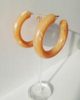 53mm Candy Hoop Earrings in Taupe on kellinsilver.com