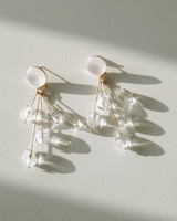 Clear Beads Chloe Earrings on kellinsilver.com
