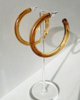 55mm Resin Hoop Earrings in Coffee on kellinsilver.com