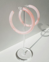 55mm Resin Hoop Earrings in pink on kellinsilver.com