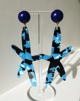 Acrylic Starfish Earrings in Blue on kellinsilver.com