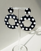 Retro Dot Earrings in Circle on kellinsilver.com