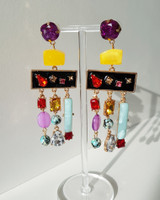Jewel Fiesta Earrings in Multi on kellinsilver.com