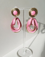 Antique Vivian Earrings in Pink on kellinsilver.com