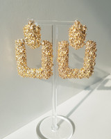 Texture Sistine Earrings in Gold on kellinsilver.com