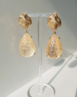 Gold Aquata Earrings on kellinsilver.com