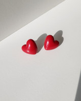 Red Heart Stud Earrings on kellinsilver.com