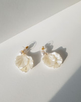 Shell Pearl Earrings on kellinsilver.com