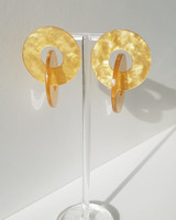 Lala Acrylic Earrings in Mustard on kellinsilver.com
