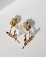 Two-way Rose Branch Earrings on kellinsilver.com