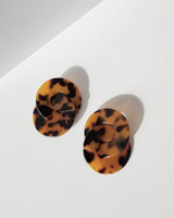 Lala Acrylic Earrings in Tortuoise on kellinsilver.com