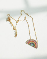 Kellin Rainbow Necklace in Stering Silver on kellinsilver.com