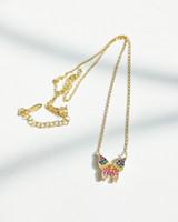 Rainbow Butterfly Necklace in Sterling Silver on kellinsilver.com