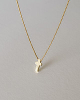 Gold Tiny Cross Necklace Sterling Silver on kellinsilver.com