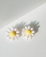Vintage Pearl Daisy Earrings on kellinsilver.com