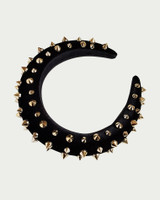 Hardcore Studded Padded Headband Hair Accessories on kellinsilver.com