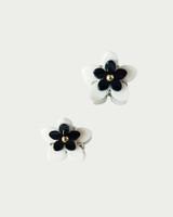 Double Daisy Mini Claw Set of 2 in Cream on kellinsilver.com