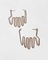 Large Hand Palm Earrings on kellinsilver.com