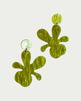 Acrylic Grass Flower Drop Earrings on kellinsilver.com