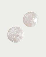 Acrylic White Wavy Disc Studs on kellinsilver.com
