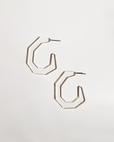 Clear Small Factor Earrings on kellinsilver.com