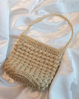 Mina Straw Bucket Bag on kellinsilver.com