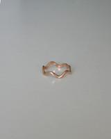 Rose Gold Wavy Ring in Sterling Silver on kellinsilver.com